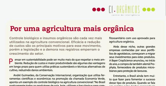 Insumos orgânicos na Revista A Lavoura