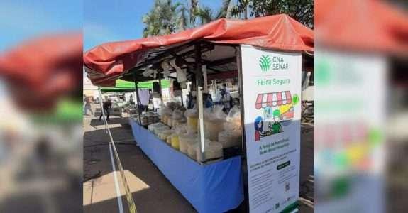 CNA cria modelo de feira livre com drive thru e medidas contra o Coronavírus