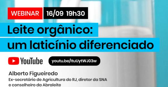 Videoconferência da SNA e do CI Orgânicos debate produção de leite orgânico